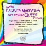 curso de escrita narrativa com temática queer